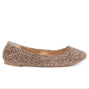 Lucky Brand Cheetah Print Ballet Flats 9M